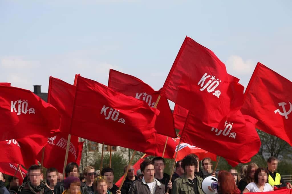Eine Demonstration der KJÖ