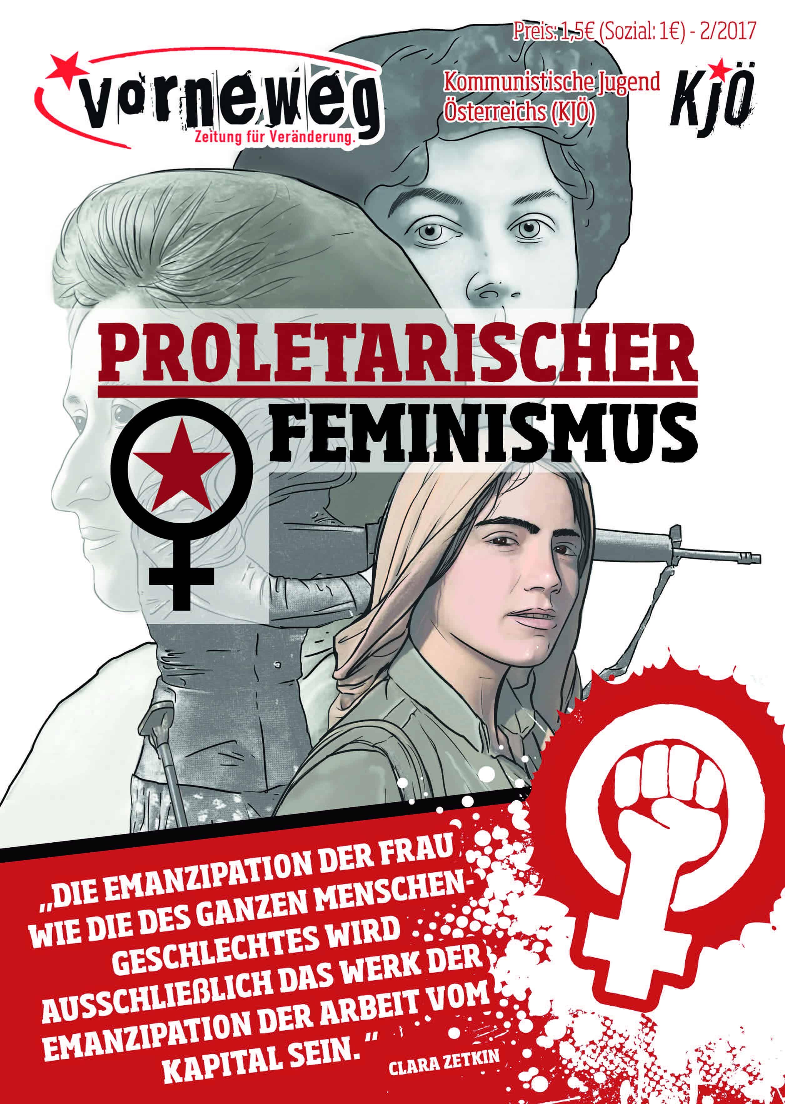 """Titelseite der vorneweg zum Schwerpunkt """"Proletarischer Feminismus"""""""