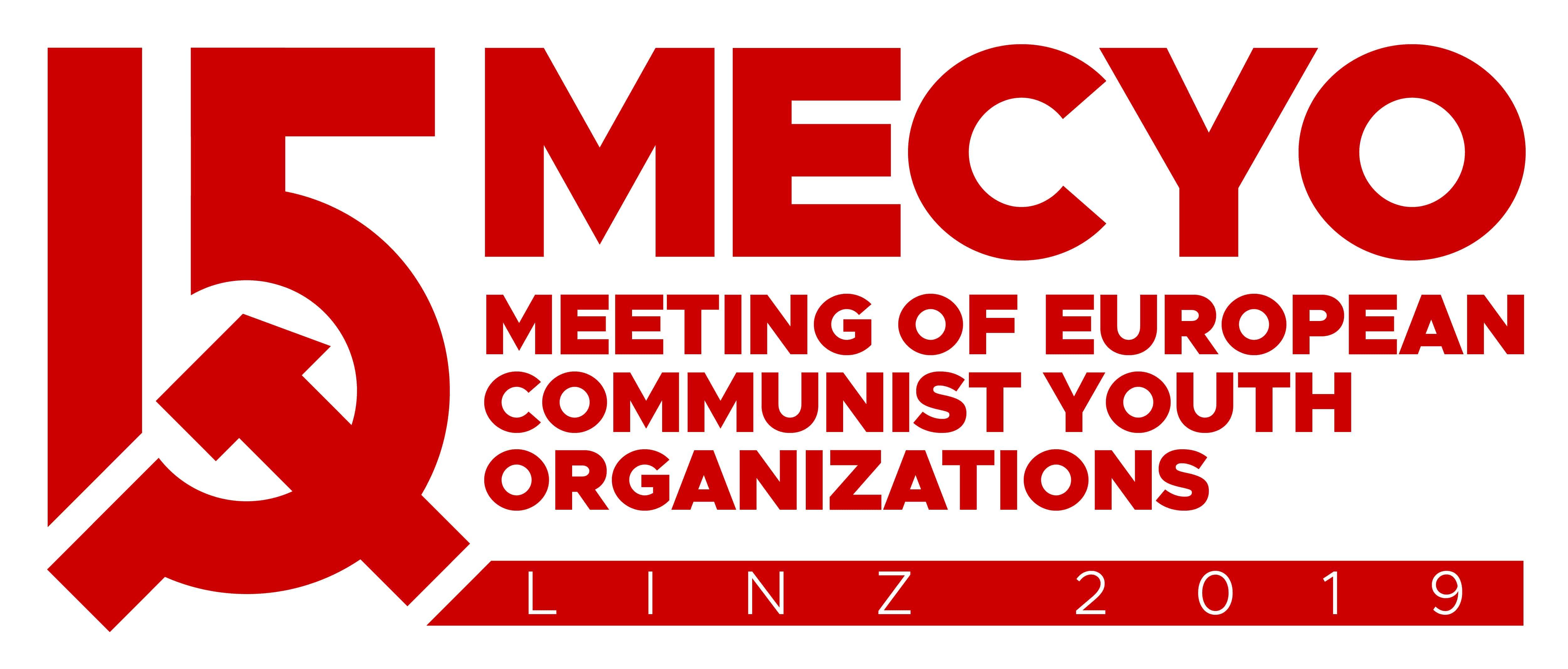 Grafik anlässlich des 15. Treffens der europäischen kommunistischen Jugendorganisationen 2019 in Linz.